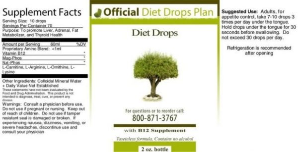 Official HCG Diet Drops Ingredients