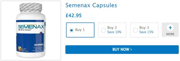 Buy Semenax Volume Enhancer Pills