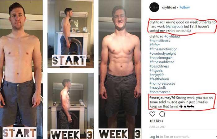 Crazybulk Instagram Testimonial