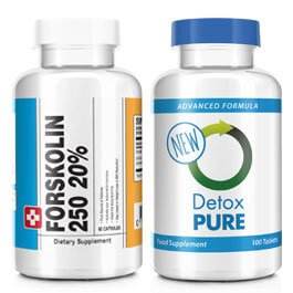 Forskolin 250 and Detox Pure Combo
