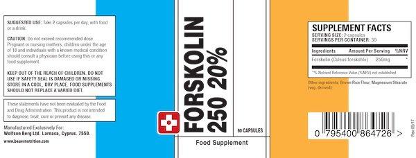 Forskolin 250 Ingredients