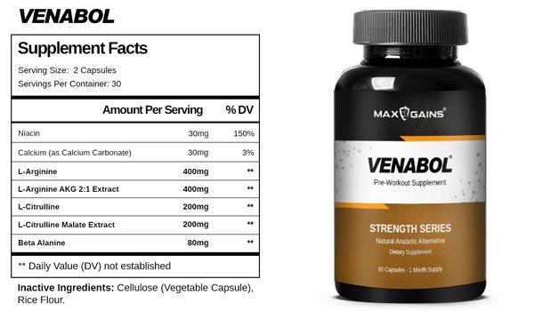 Venabol Ingredients