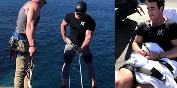 Calum Rappel Off A Cliff In Australia