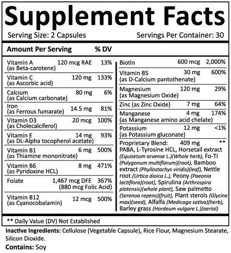 Valotin Ingredients